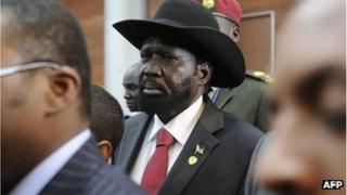 Salva Kiir in Ethiopia on 26 May