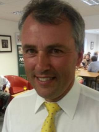 Andrew Ward at the Farmers' Union of Wales reception
