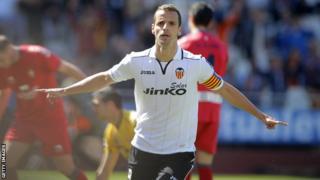 Valencia forward Roberto Soldado