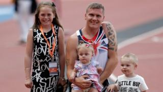 David Weir with his family