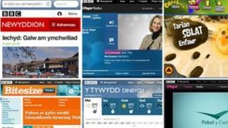 Rhai o wefannau BBC Cymru