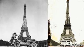 Jeepney at Eiffel Tower