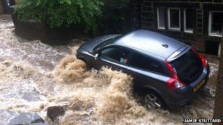 Flooding in Todmorden