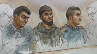 Aabidali Mubarak Ali, Rakib Iacub and Wajid Usman (left to right)