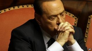 Friday, July 19, 2013 Silvio Berlusconi attends a voting session at the Senate in Rome.