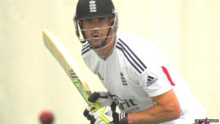 England batsman Kevin Pietersen in action