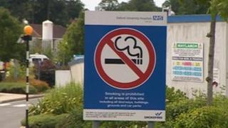 John Radcliffe Hospital Oxford no smoking sign