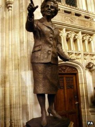 The statue of Baroness Thatcher was unveiled in 2007