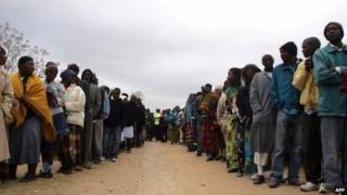 Voters in Zimbabwe