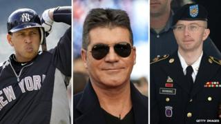 Alex Rodriguez, Simon Cowell and Bradley Manning