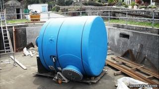 Salt saturator unit at Guernsey Water's Kings Mill treatment plant