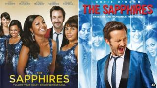 Australian and US DVD covers for The Sapphires