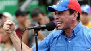 Venezuelan opposition leader Henrique Capriles (file image)