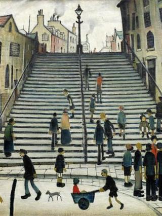 LS Lowry's Black Steps, Wick painting