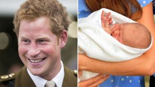 Prince Harry and Prince George