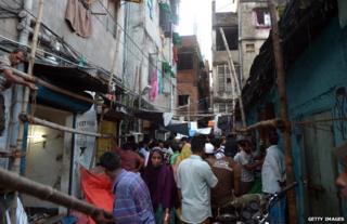 The neighbourhood where former Royal footman Badar Azim is from in Calcutta, India