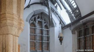 St Odulph's Church roof