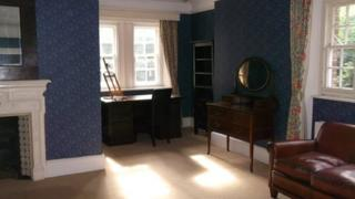 Thomas Hardy's study and bedroom