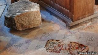 Damage in the church