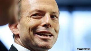 Opposition Leader Tony Abbott in file image on 7 August 2013
