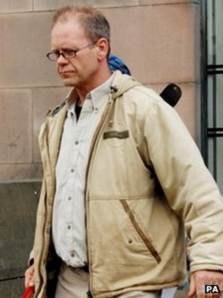 Kevin Wright leaving Nottingham Crown Court