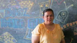 Public school teacher Reneliza Llavore in Bacolod City, Philippines