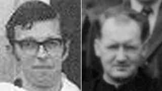 Fr Chrysostom Alexander (left) and Fr Aiden Duggan