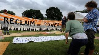 Reclaim the Power camp