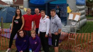 The team before the record attempt