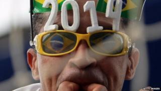 Brazil football fan