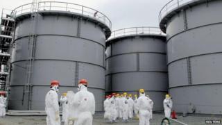 storage tanks at Fukushima