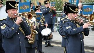 Battle of Britain parade 2009 in Norwich