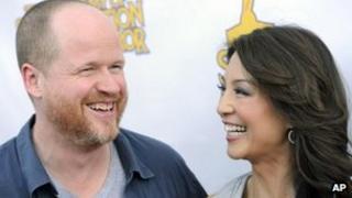 Joss Whedon with S.H.I.E.L.D co-star Ming-Na Wen