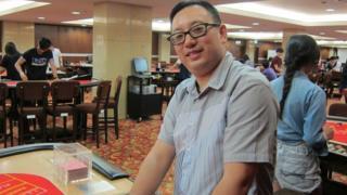 Macau croupier Vincent Mou