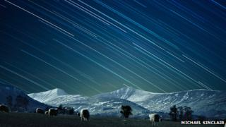 The night sky above Pen y Fan