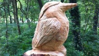 Kingfisher sculpture