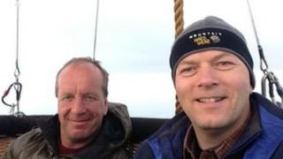 Balloonists Clive Bailey and Paul Spellward