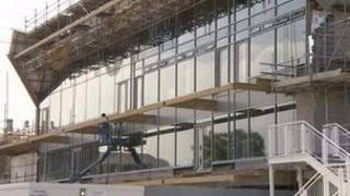 Building work on the new pavilion at Gloucestershire County Cricket Club