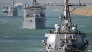 US warships in the Middle East file picture 2008