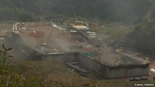 Scene of the fire on Wednesday