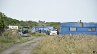 A former Camp Badger site, near Watchet in Somerset