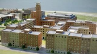 Artist's impression of the planned new Swansea University campus