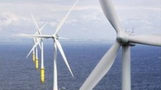 RWE npower renewables offshore wind farm off the coast of north Wales