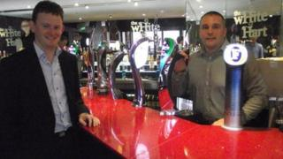 Councillor Peter Wilson and Tony Fitzgerald White Hart Pub