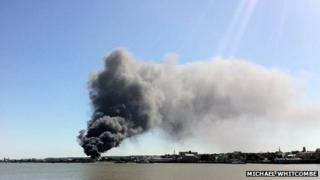 Fire in Gravesend