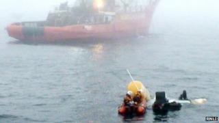 Recovery operation off Shetland