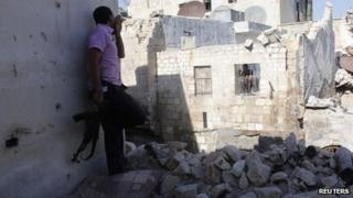 Fighting in Aleppo, Syria