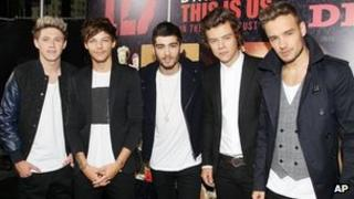 One Direction at the New York premiere of This Is Us