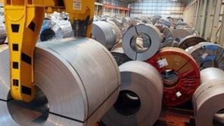 Rolls of steel in Wolverhampton