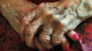 Elderly person's hands